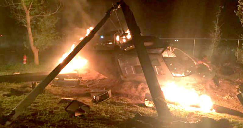 AMC's Preacher Set Photo Teases a Helicopter Crash
