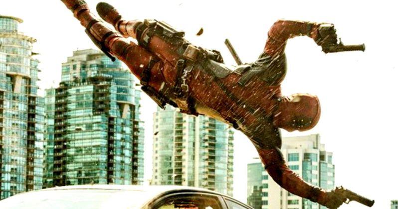 Deadpool Photo Has Ryan Reynolds Flying Over a Car