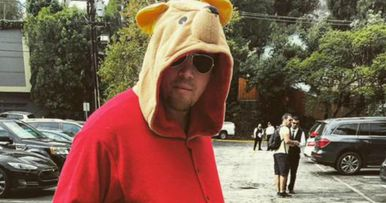 Channing Tatum Scares Kids with His Winnie the Pooh Halloween Costume