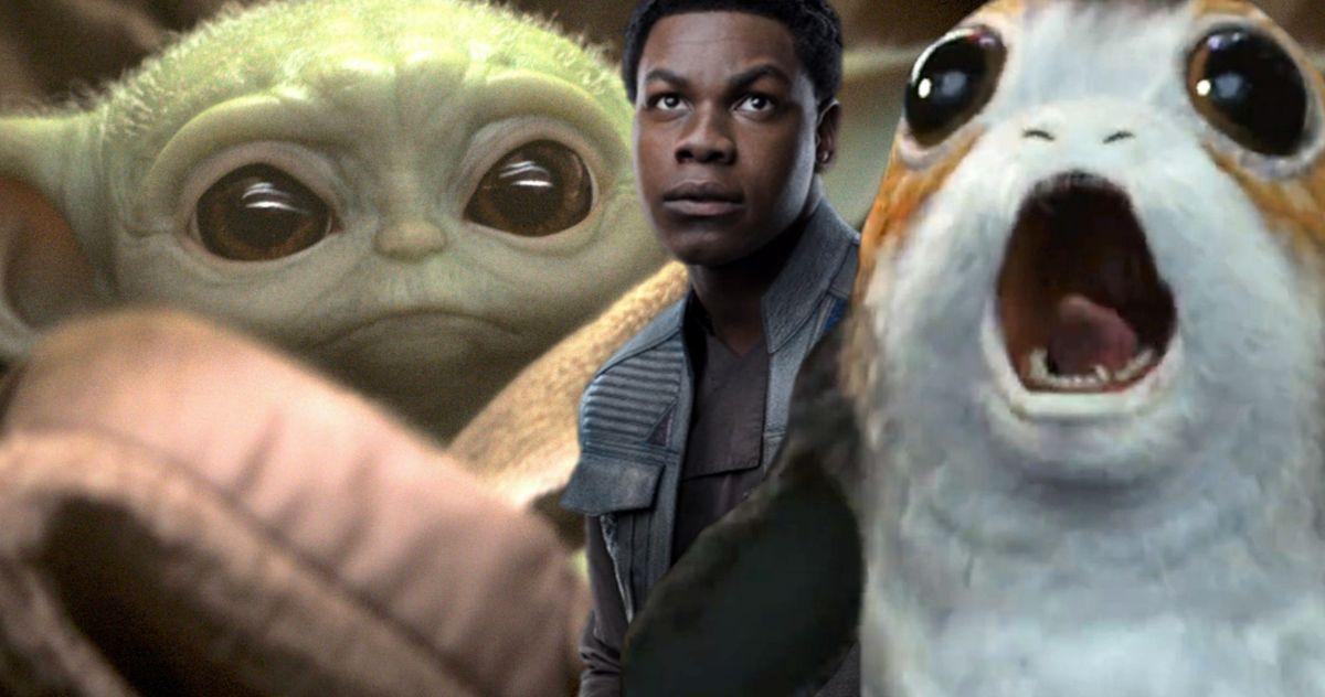 Baby Yoda Vs. Porgs Debate Has John Boyega Tossing a Silent F-Bomb