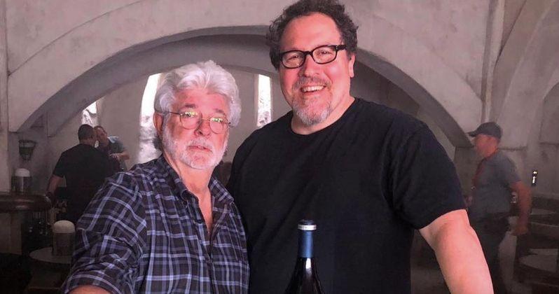 George Lucas Drops by The Mandalorian Set to Wish Jon Favreau Happy Birthday
