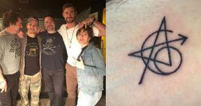 Jeremy Renner Explains Avengers Tattoo, Pokes Fun at Mark Ruffalo