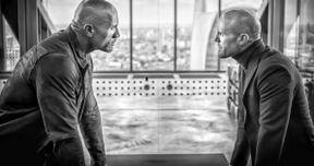 Hobbs & Shaw Photo Has Dwayne Johnson & Jason Statham Locked in a Face-Off
