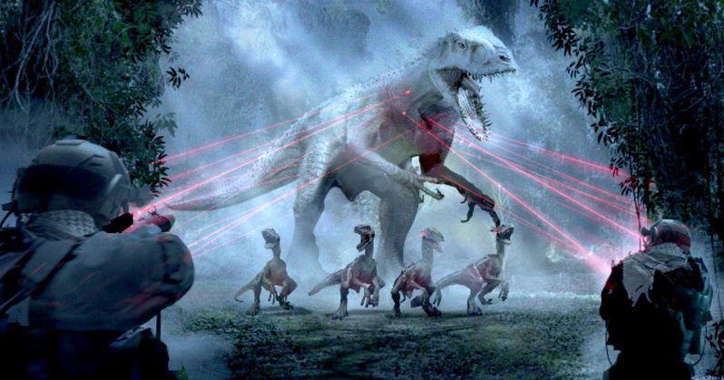 Jurassic World Concept Art Teases Indominus Rex Showdown