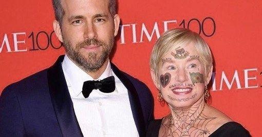 Ryan Reynolds Trolls Mom With Savage Deadpool Face Tattoos