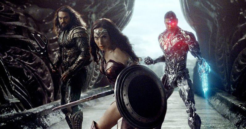 Justice League Photo: Aquaman, Wonder Woman & Cyborg Face Off