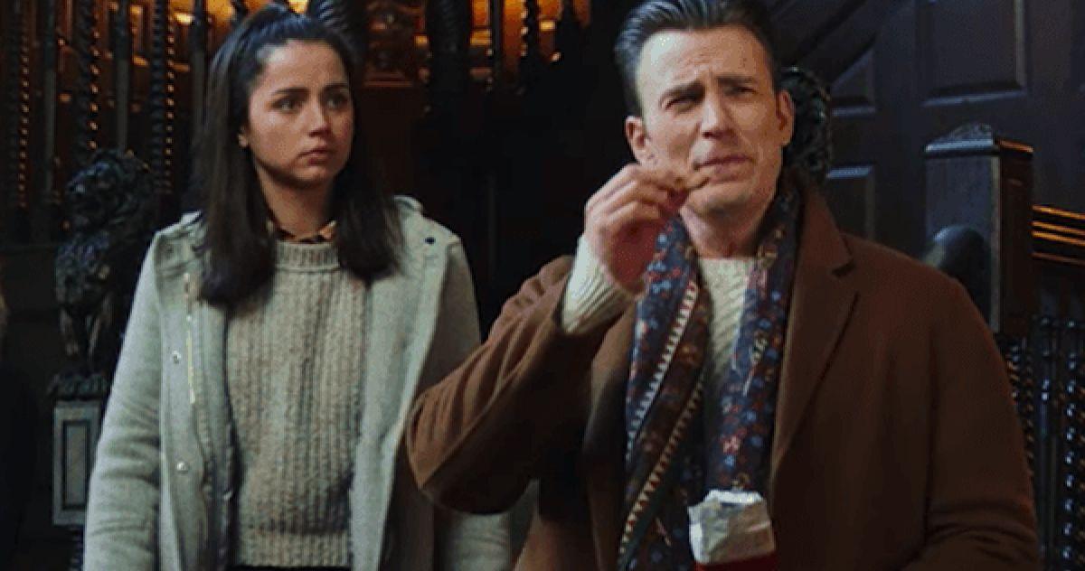 Ана де Армас воссоединилась с коллегой по фильму «Knives Out» Крисом Эвансом в эпическом фильме Netflix «Серый человек»
