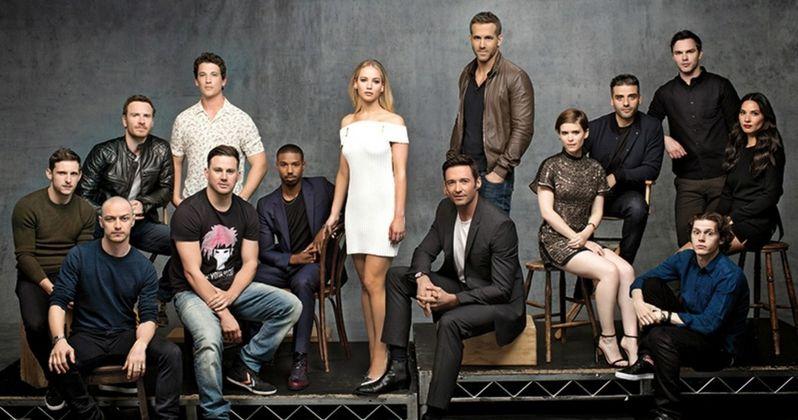 x men deadpool fantastic four join forces in cast photo