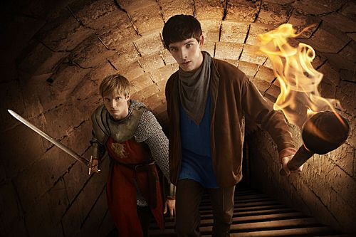 Colin Morgan and Bradley James discuss the third season of <strong><em>Merlin</em></strong>