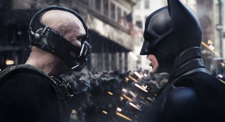 Bane and Batman Face-Off in <strong><em>The Dark Knight Rises</em></strong>