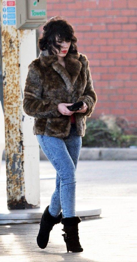 Scarlett Johansson on the set of <strong><em>Under the Skin</em></strong> #1