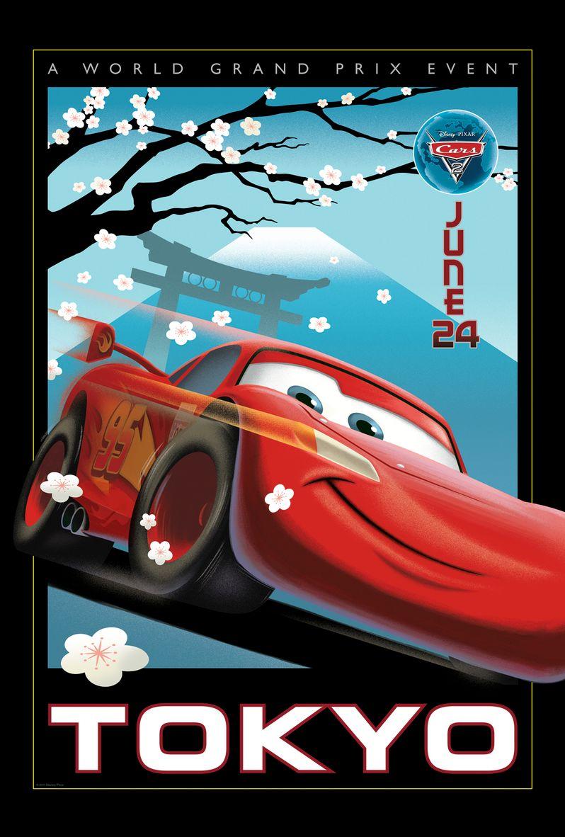 <strong><em>Cars 2</em></strong> Retro Poster #2