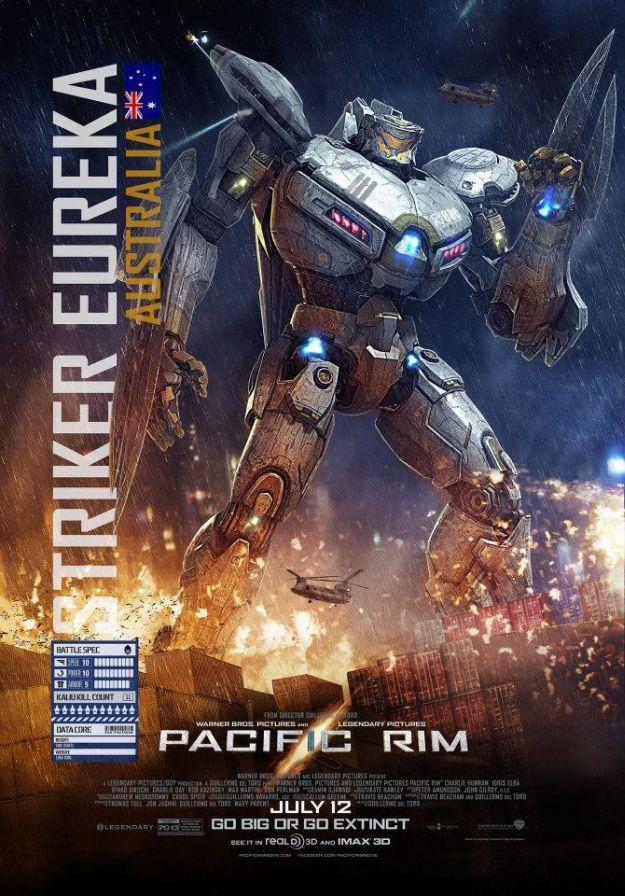 <strong><em>Pacific Rim</em></strong> Character Poster Striker Eureka