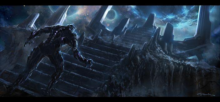 Thanos Concept Art <strong><em>Marvel's The Avengers</em></strong> 4
