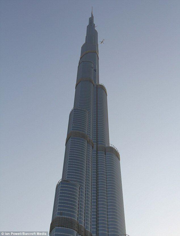 The world's tallest building, Burj Khalifa, in Dubai