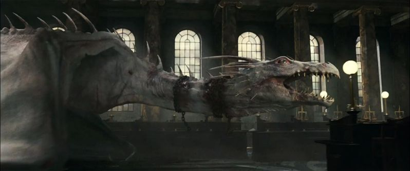 The blind and pale dragon from Harry Potter and the Deathly Hallows