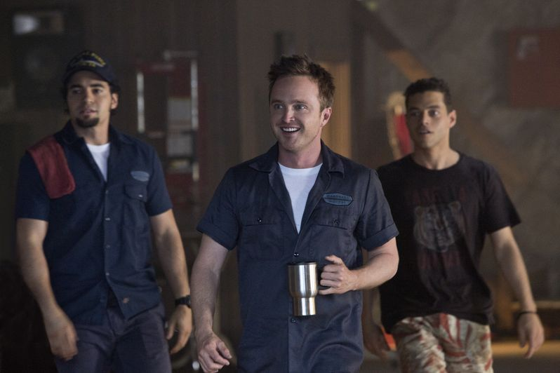 Aaron Paul, Rami Malek and Ramon Rodriguez in <strong><em>Need for Speed</em></strong>