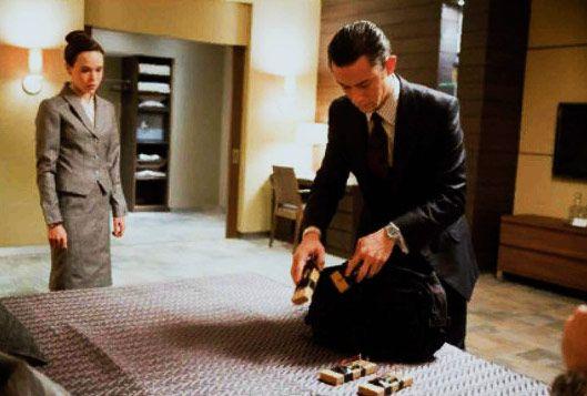 Joseph Gordon-Levitt and Ellen Page in <strong><em>Inception</em></strong>
