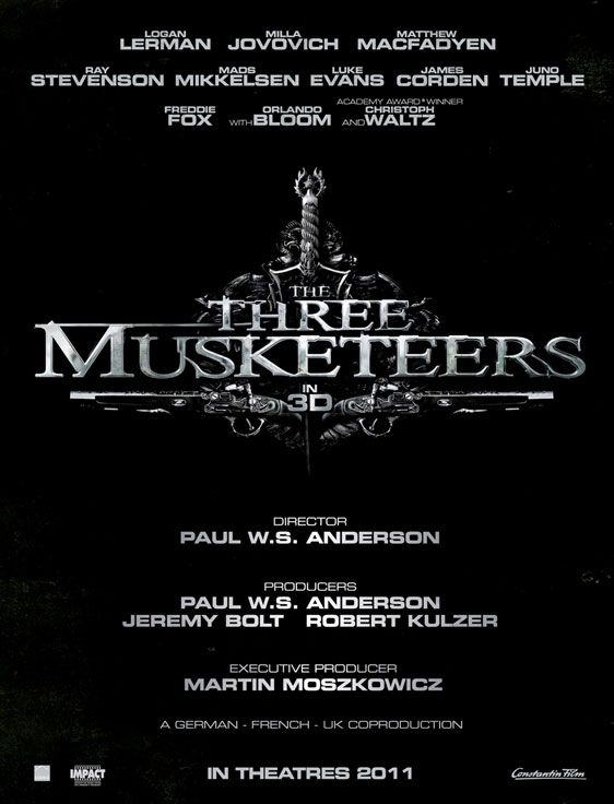 <strong><em>The Three Musketeers</em></strong> 3D Poster