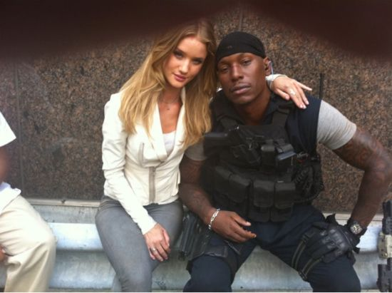 Tyrese Gibson and Rosie Huntington-Whiteley in Transformers 3