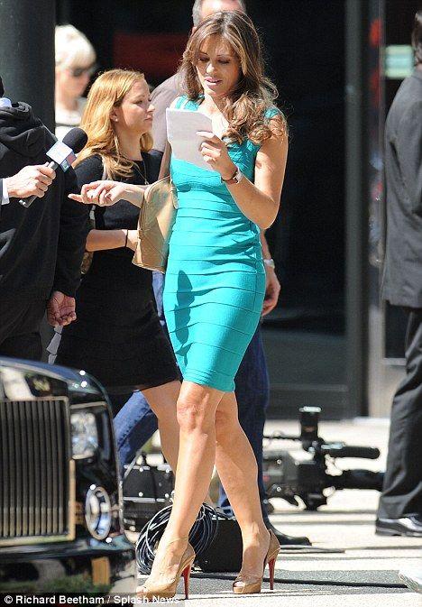 Elizabeth Hurley on the set of <strong><em>Wonder Woman</em></strong> #2