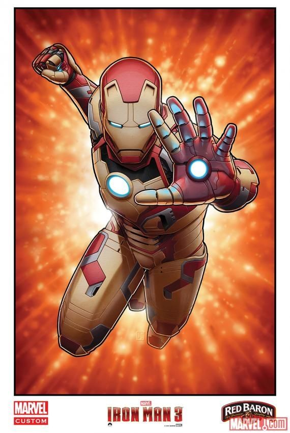 <strong><em>Iron Man 3</em></strong> Comic Art Poster 2