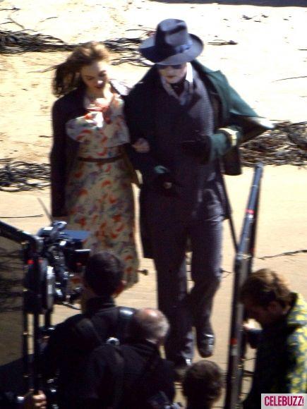 Johnny Depp as Barnabas Collins on the <strong><em>Dark Shadows</em></strong> Set #5