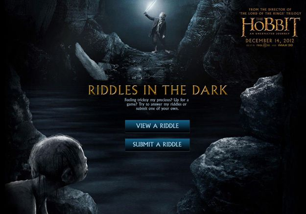 <strong><em>The Hobbit: An Unexpected Journey</em></strong> Riddles In the Dark Game