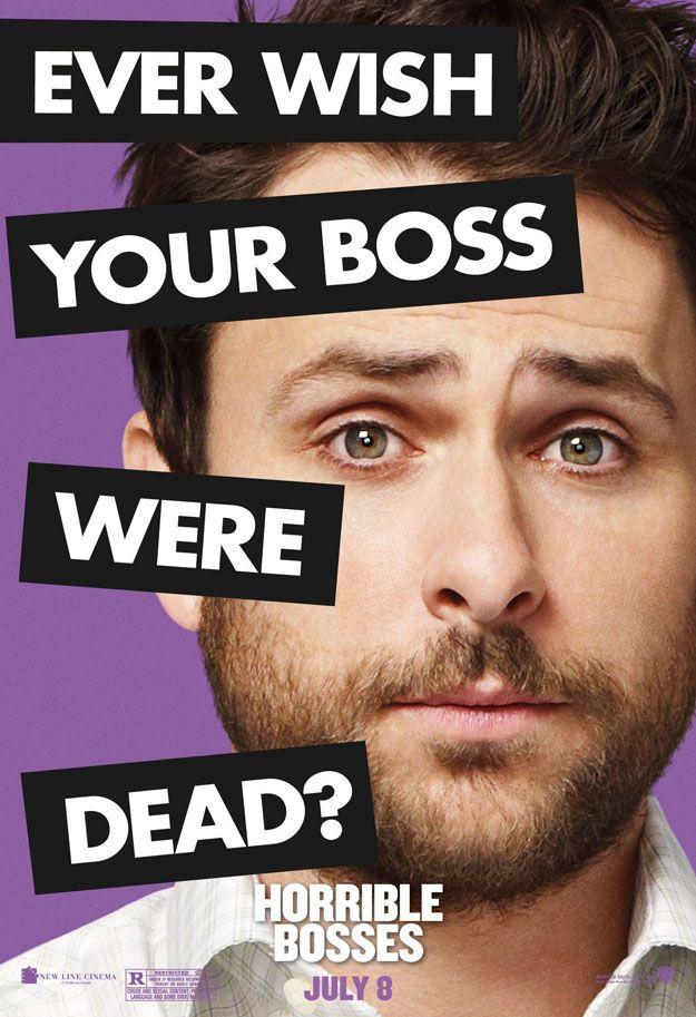 <strong><em>Horrible Bosses</em></strong> Charlie Day Character Poster