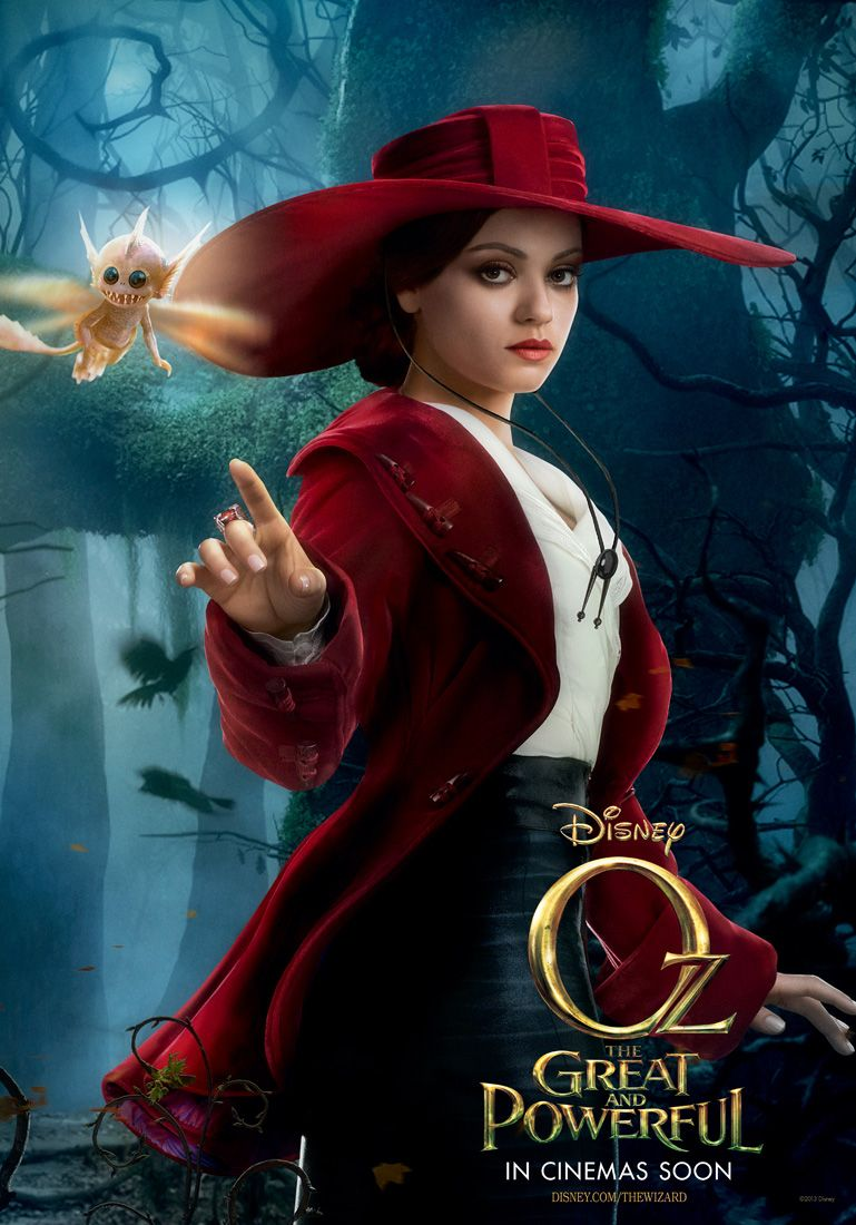 Oz The Great and Powerful Theodora Poster with Mila Kuunis