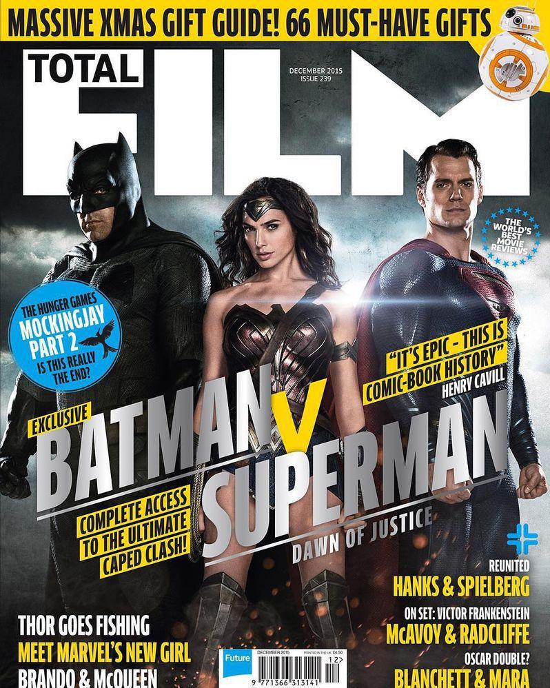 Batman v Superman Total Film Cover