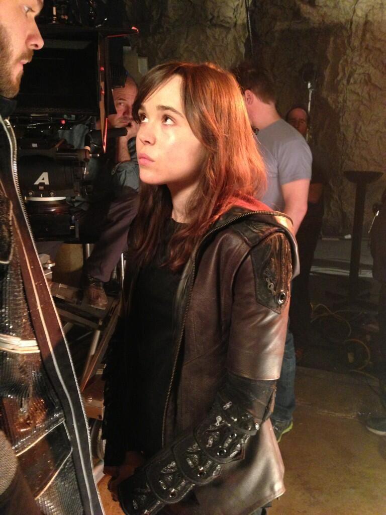 <strong><em>X-Men: Days of Future Past</em></strong> Ellen Page Set Photo