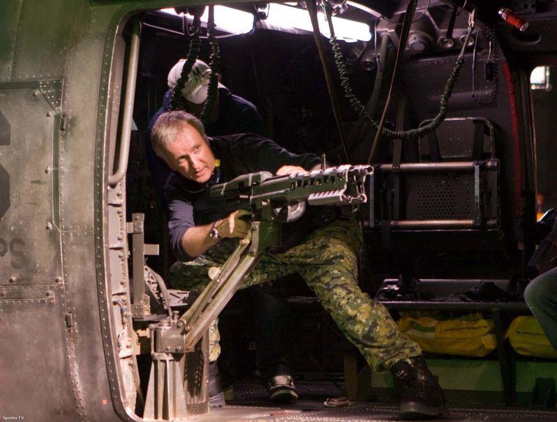 James Cameron on the set