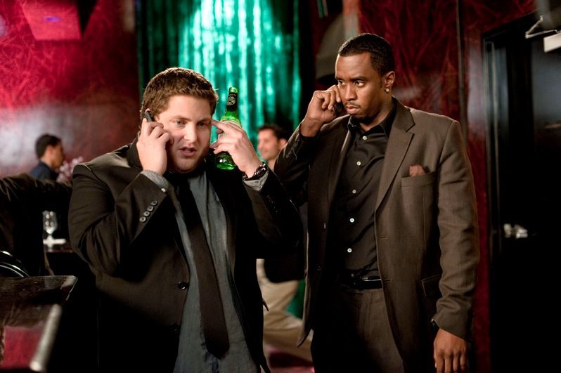 Jonah Hill and Sean Combs inGet Him to The Greek