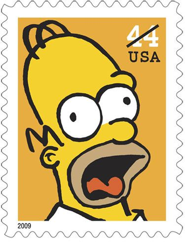 <strong><em>The Simpsons</em></strong> Postage Stamps #1