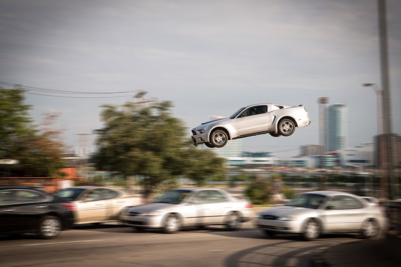 One of the many action-packed racing scenes in <strong><em>Need for Speed</em></strong>