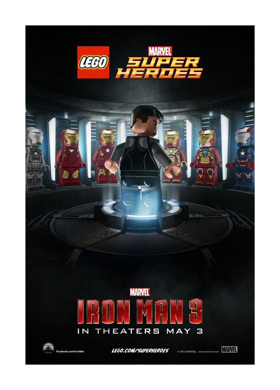 <strong><em>Iron Man 3</em></strong> Lego Poster 2
