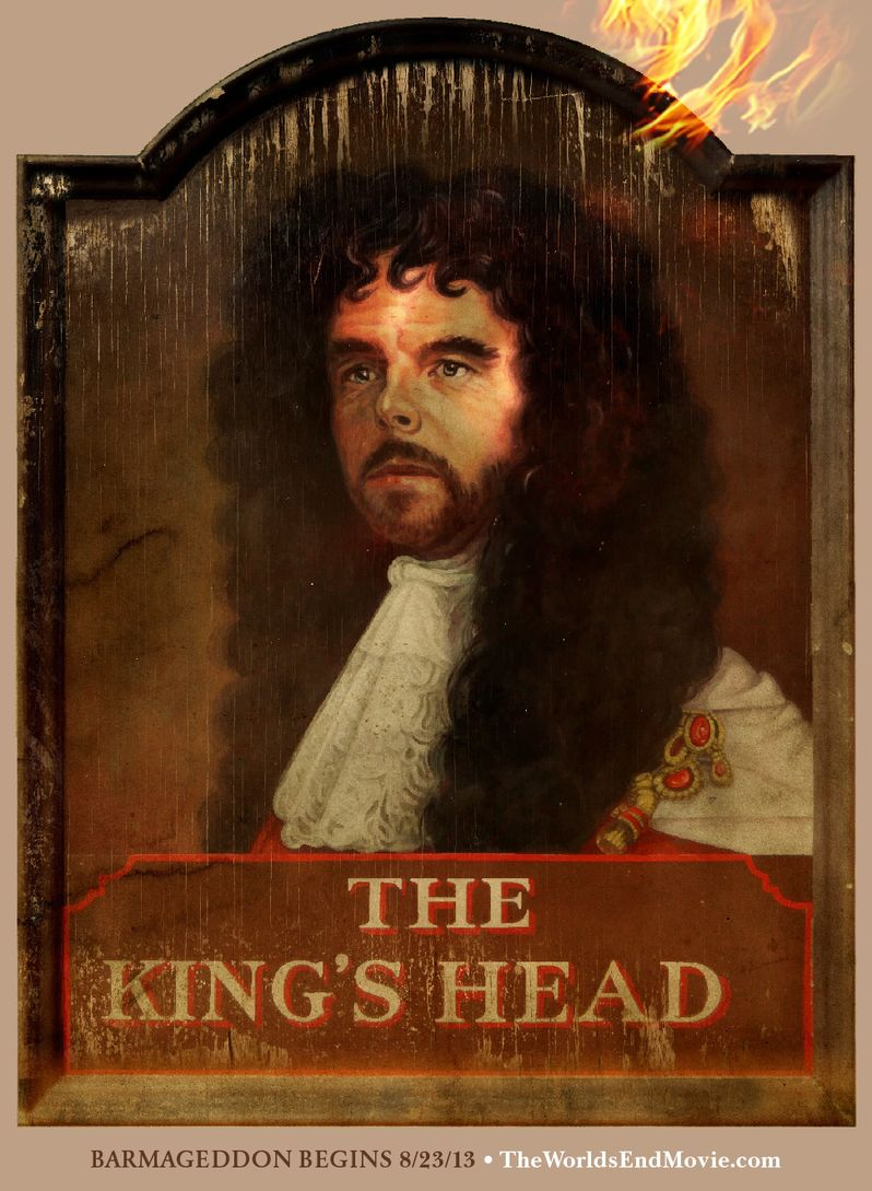 The King's Head <strong><em>The World's End</em></strong> Bar Sign Poster