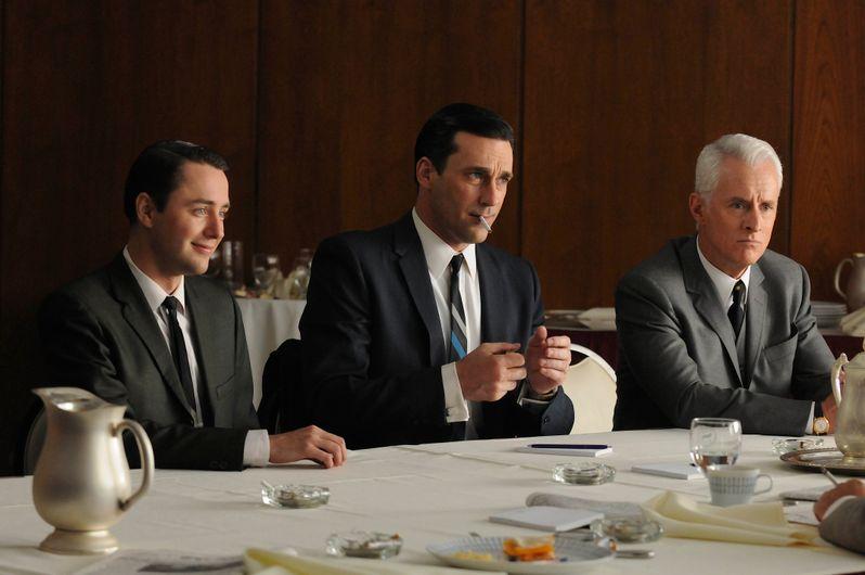 Vincent Kartheiser, Jon Hamm and John Slattery in <strong><em>Mad Men</em></strong>