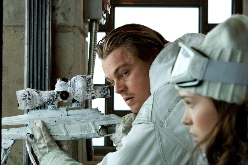 Leonardo DiCaprio as Cobb and Ellen Page as Ariadne