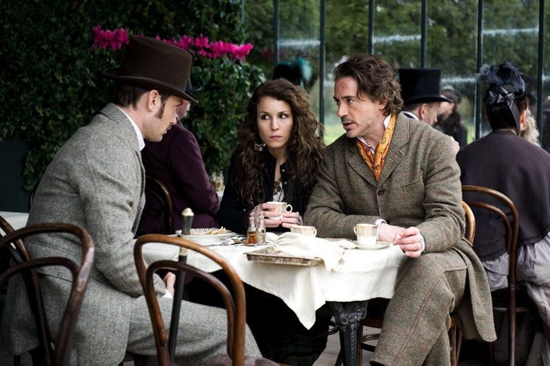 Jude Law, Noomi Rapace and Robert Downey Jr. in <strong><em>Sherlock Holmes: A Game of Shadows</em></strong>