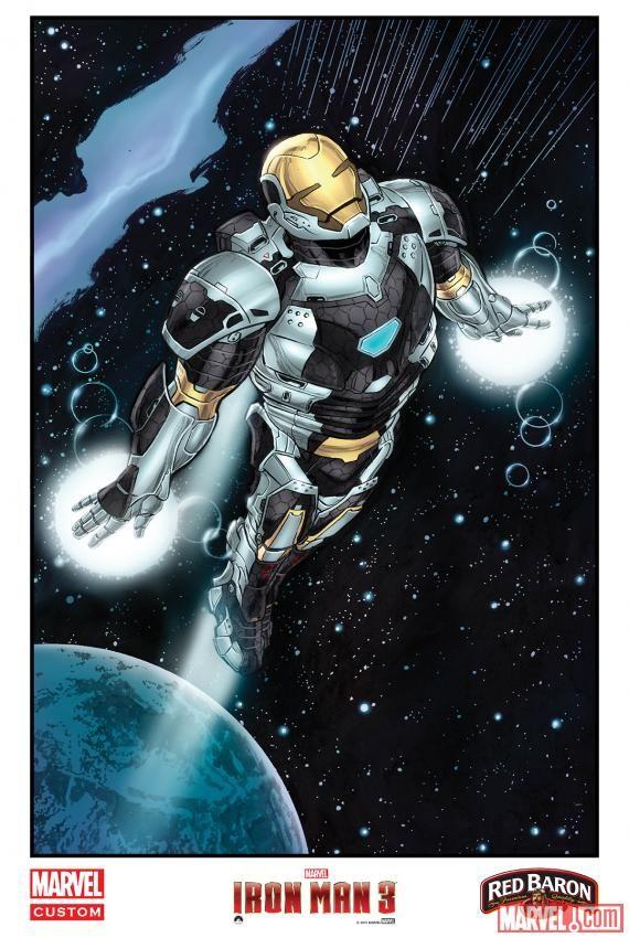<strong><em>Iron Man 3</em></strong> Comic Art Poster 3