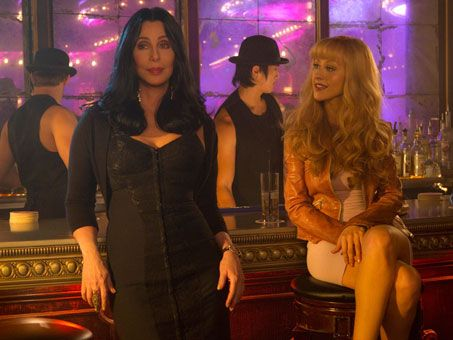 Christina Aguilera and Cher in <strong><em>Burlesque</em></strong>