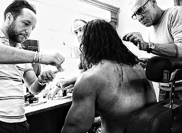 <strong><em>Hercules</em></strong> Dwayne Johnson Make-Up Photo