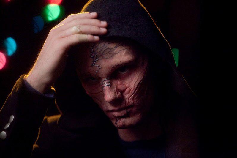 Alex Pettyfer in full make-up