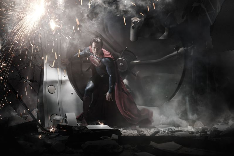 Henry Cavill as <strong><em>Man of Steel</em></strong>
