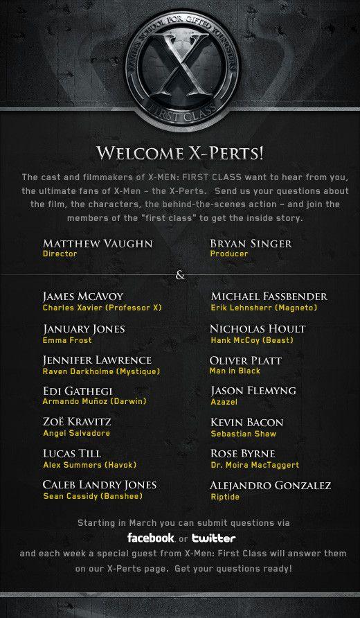 <strong><em>X-Men: First Class</em></strong> X-Perts Information