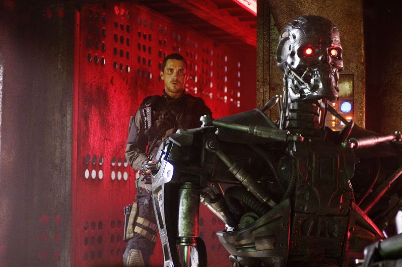 Christian Bale and T800 in Terminator: Salvation