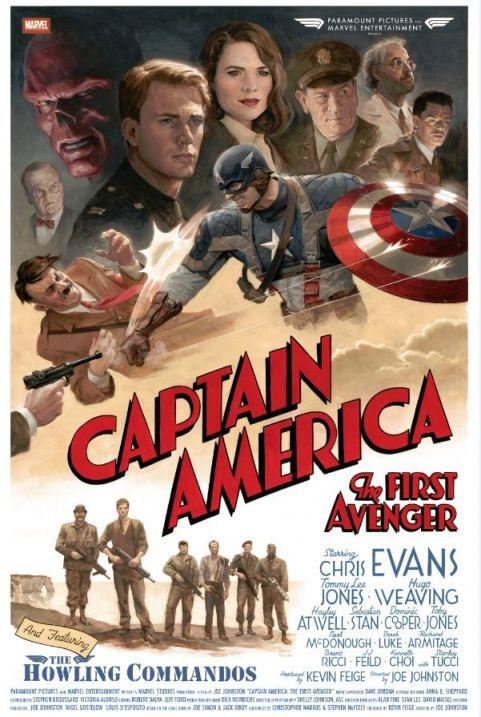 <strong><em>Captain America: The First Avenger</em></strong> cast and Crew Poster