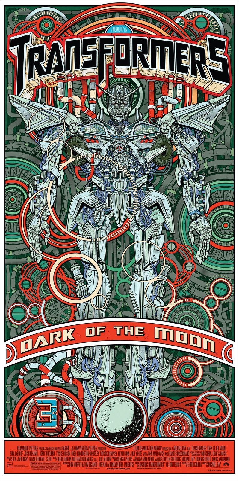 Transformers Dark of the Moon Alamo Drafhouse Poster #1